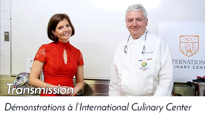 Les Maîtres Cuisiniers de France on air for a New York TV
